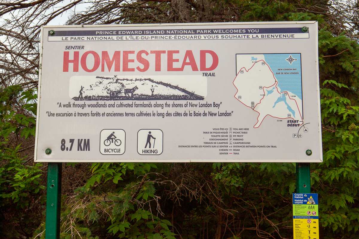 Homestead Trail sign